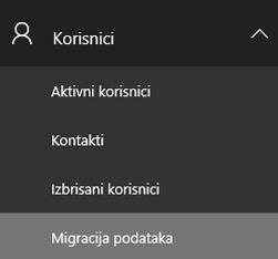 Kontrolna tabla migracije podataka