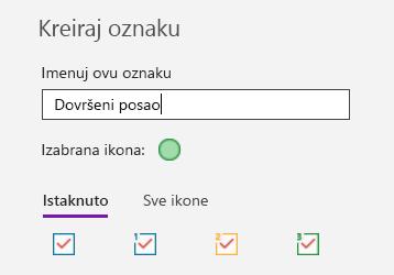 Kreiranje prilagođene oznake u programu OneNote za Windows 10