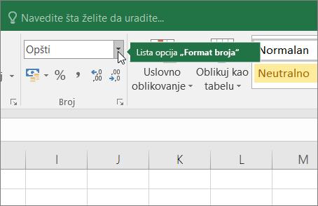Broj oblikovanje okvira sa listom