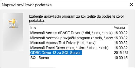 """Dijalog """"Pravljenje novog izvora podataka"""""""