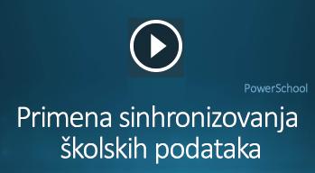 Video zapis o primeni sinhronizovanja školskih podataka