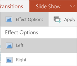 Opcije efekata