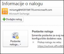 Dodajte novi nalog e-pošte u Outlook 2010