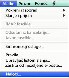 Outlook for Mac alatke > Nalozi