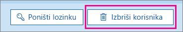 Brisanje korisnika u usluzi Office 365.