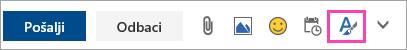 Snimak ekrana dugmeta opcije oblikovanja