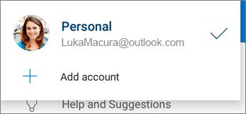 Dodavanje naloga u aplikaciji OneDrive za Android