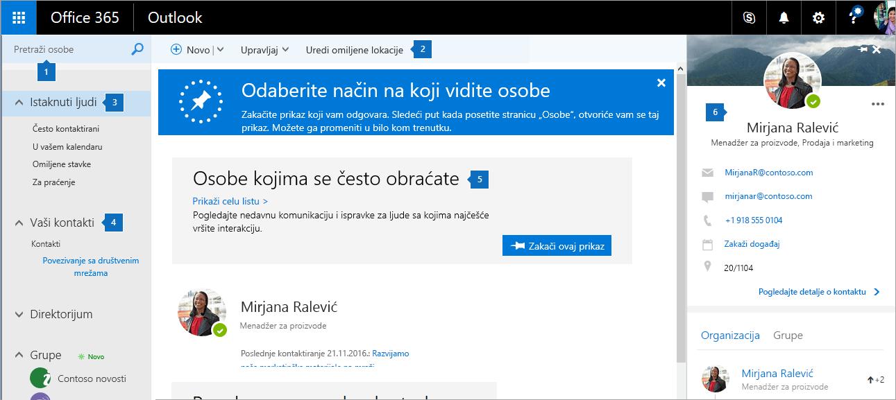 """Snimak ekrana stranice """"Osobe""""."""