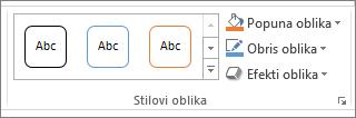 Grupa oblika stila u programu PowerPoint