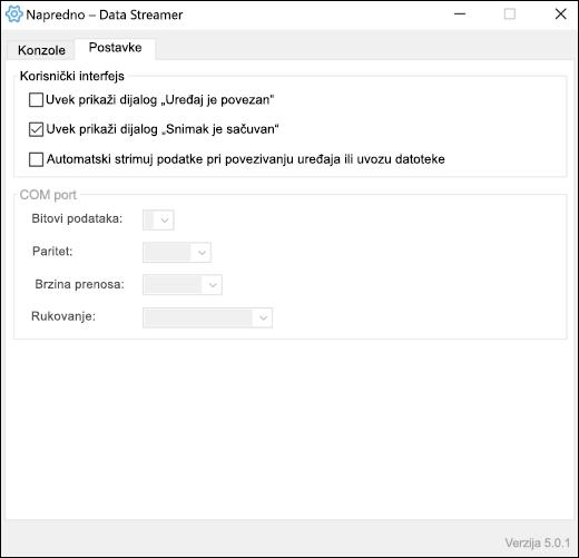 Karticu postavke naprednih postavki programskog dodatka za Excel podatke plana