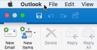 """Da biste videli koju verziju programa Outlook imate, odaberite stavku """"Outlook"""" na traci sa menijima."""
