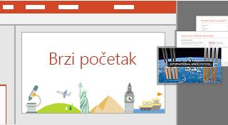 Funkcija PowerPoint QuickStarter