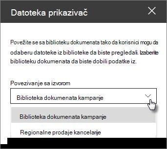 Okno sa padajućim slovom datoteke prikazivača datoteka sa padajućim znakom izvora