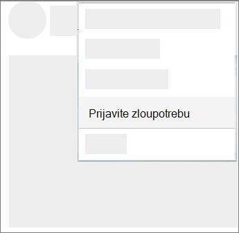 Snimak ekrana kako da prijavim zloupotreba u usluzi OneDrive