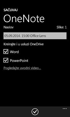 Slanje slika u Word i PowerPoint u usluzi OneDrive