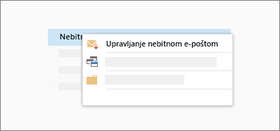 Konceptualna snimak funkciju nebitna e-pošta