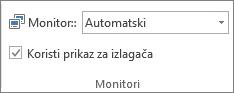 Monitora grupa na kartici projekcija slajdova