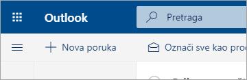 """Snimak ekrana novog doživljaja aplikacije """"Pošta"""""""