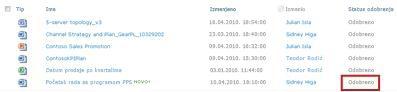"""SharePoint biblioteka pošto je datoteka na čekanju dobila status """"Odobreno"""""""