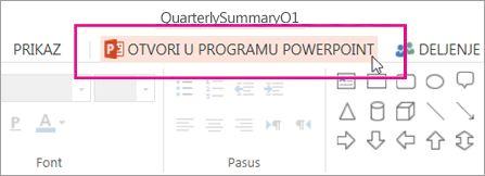 Otvaranje u programu PowerPoint za stone računare