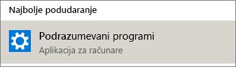 Podrazumevani programi u operativnom sistemu Windows