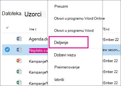 OneDrive for Business deli komande
