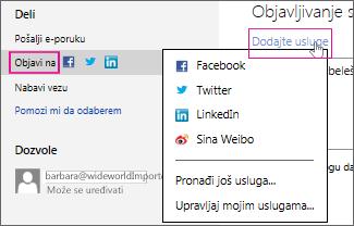 Objavljivanje prezentacije na društvenoj mreži