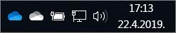 OneDrive SyncClient sa ikonama plavog i belog oblaka