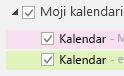 """Vaši kalendari su navedeni u okviru """"Moji kalendari"""". Potvrdite izbor u poljima za kalendare koje želite da vidite."""