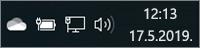 OneDrive bela ikona u sistemskoj paleti