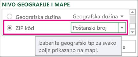 Zip Code maps to Zip