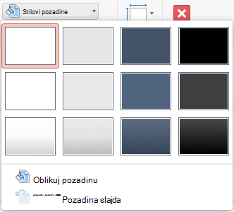 PowerPoint for Mac Background Style menu