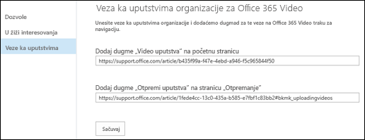 Office 365 Video smernice