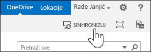 Sinhronizovanje programa OneDrive for Business u sistemu SharePoint 2013