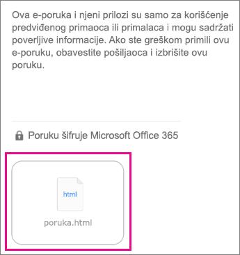 OME prikazivač za iOS aplikacije e-pošte 1