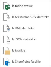 Preuzimanje podataka iz datoteke