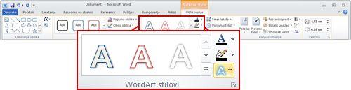 """Kartica """"Format"""" u okviru """"Alatke za crtanje"""""""