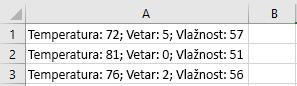 Ćelije u programu Excel