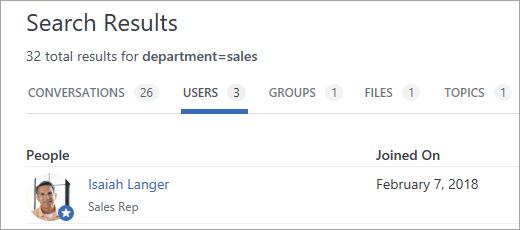 Prikaz korisnika koji zadovoljavaju kriterijume za pretragu