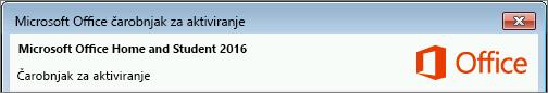 Prikazuje verziju sistema Office, kao što je prikazano u čarobnjaku za aktiviranje.