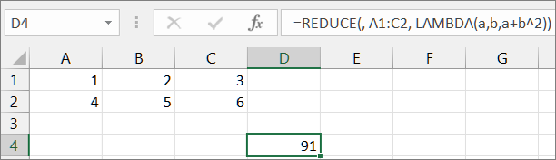 First REDUCE function example1