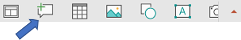 Plutajuća traka sa alatkama u programu PowerPoint za Android ima komande novi komentar