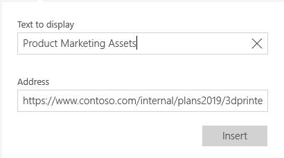Pošta za Windows 10 dijalog za tekst hiperveze