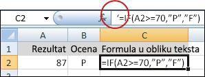 apostrof deaktivira formula