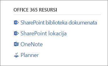 Office 365 resursi