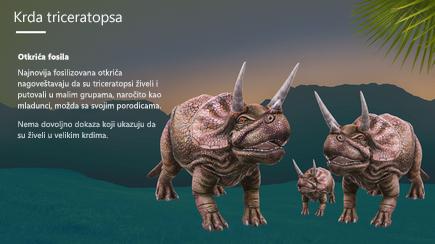 Snimak ekrana naslovne strane sa 3D PowerPoint predloškom