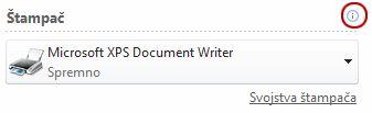 Status Publisher štampača