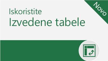 Iskoristite izvedene tabele