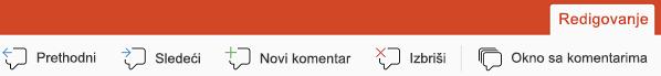 Dugmad za komentar u aplikaciji PowerPoint za iPad