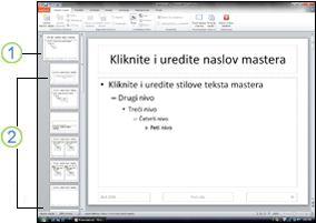 Master slajda i rasporedi